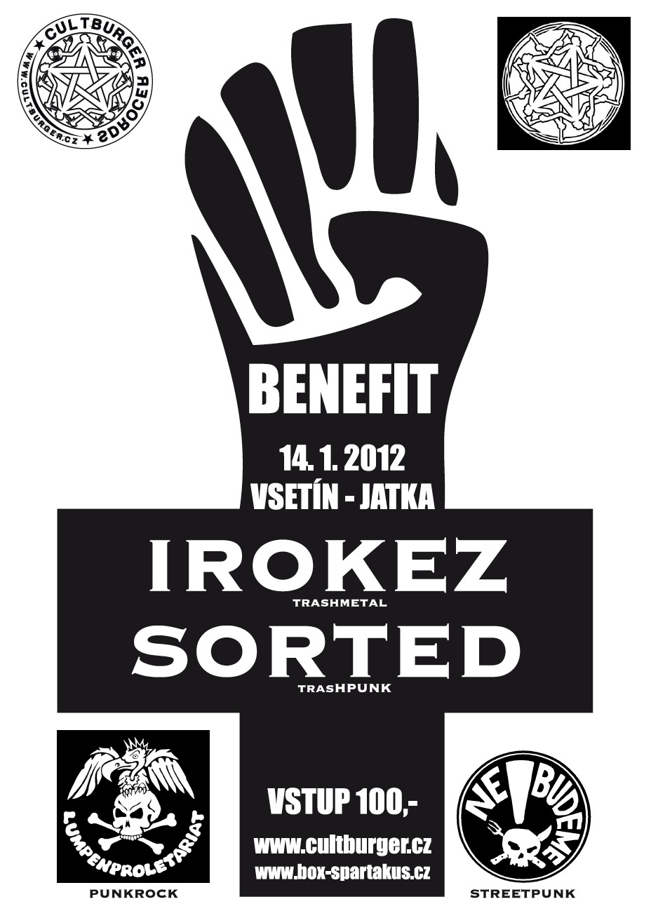 ABC BLACK CROSS BENEFIT!!! NE!BUDEME + IROKEZ + LUMPENPROLETARIAT + SORTED